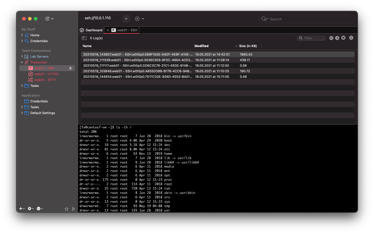 Terminal: Log Viewer Dashboard